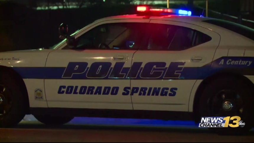 Colorado Springs Police robbery burglary stock
